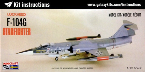 Box cover for MINICRAFT F-104G Starfighter in 1:72 scale