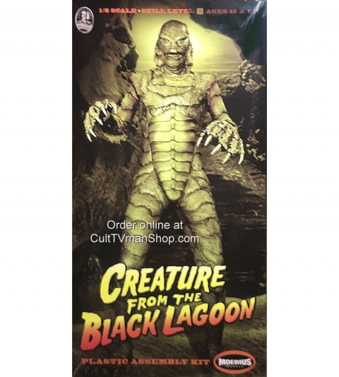 Box cover for Moebius Models Creature from the Black Lagoon in 1:8 scale
