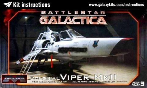 Box cover for Moebius Models Colonial Viper Mk II in 1:32 scale