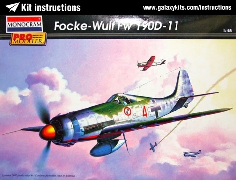 Box cover for Monogram Focke-Wulf Fw 190d-11 in 1:48 scale