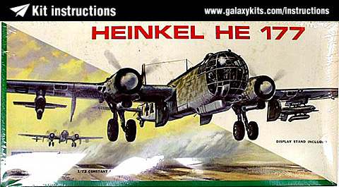 Box cover for MPC Heinkel He 177 in 1:72 scale