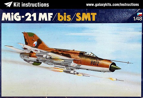 Box cover for OEZ mig-21MF/bis/SMT in 1:48 scale