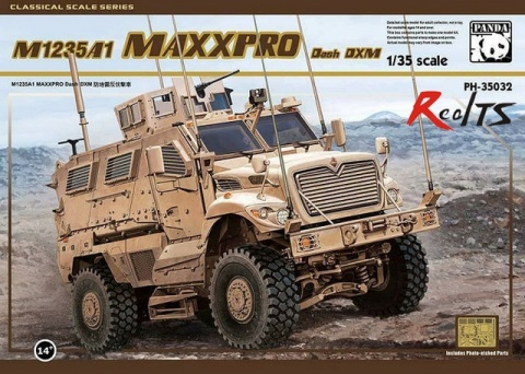 Box cover for Panda  M1235A1 MaxxPro Dash DXM in 1:35 scale