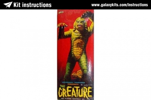 The Creature Polar Lights Kit Instruction Unknown Scale No 7501