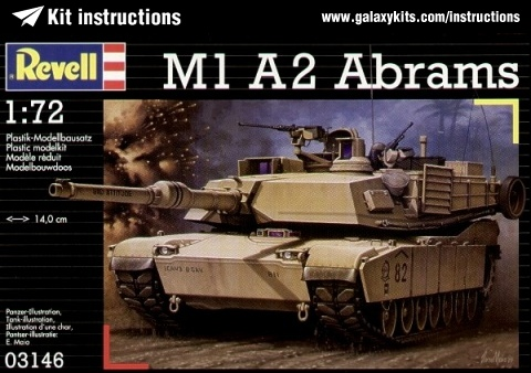 Box cover for Revell M1 A2 Abrams in 1:72 scale