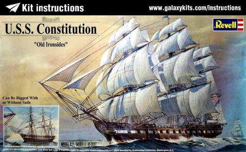 Box cover for Revell HMS CONSTITUTION in 1:96 scale