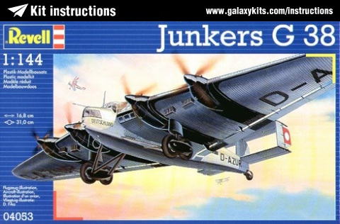 Box cover for Revell Junkers G 38040 in 1:144 scale
