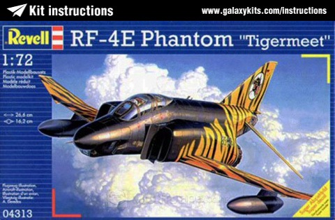 Box cover for Revell RF-4E PHANTOM Tigermeet in 1:72 scale