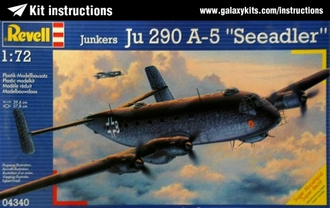 "Box cover for Revell Junkers Ju 290 A-5 ""SEEADLER"" in 1:72 scale"