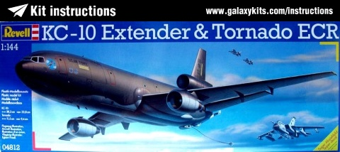 Box cover for Revell KC-10 Extender & Tornado ECR in 1:144 scale