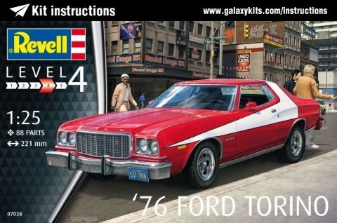 Box cover for REVELL '76 Ford Torino in 1:25 scale