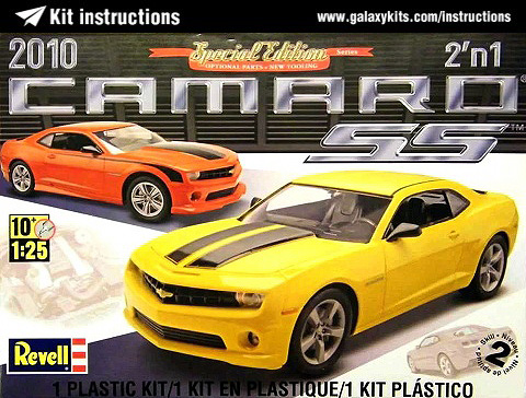Box cover for Revell 2010 CAMARO SS 2in1 in 1:24 scale