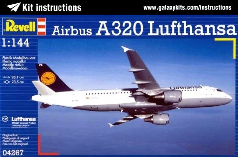 Box cover for REVELL Airbus A320 Lufthansa in 1:144 scale