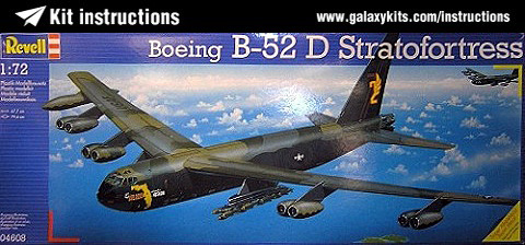 boeing b52 d stratofortress revell kit instruction 1 72 scale no