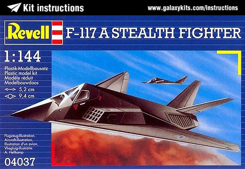 Box cover for Revell F-117A Stealth Fighter in 1:144 scale