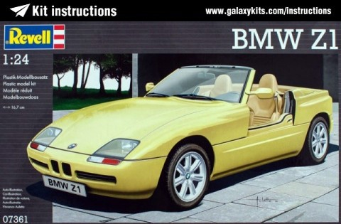 Box cover for REVELL BMW Z1 in 1:24 scale
