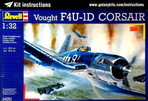 Box cover for Revell Vought F4U-1D Corsair in 1:32 scale
