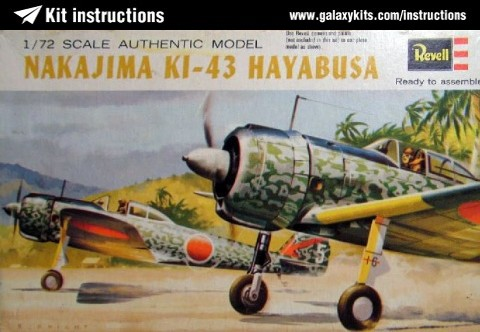 Box cover for Revell Ki 43 Hayabusa in 1:72 scale