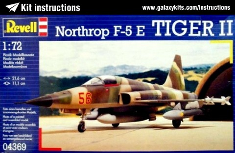 Box cover for Revell Northrop F-5E Tiger II in 1:72 scale