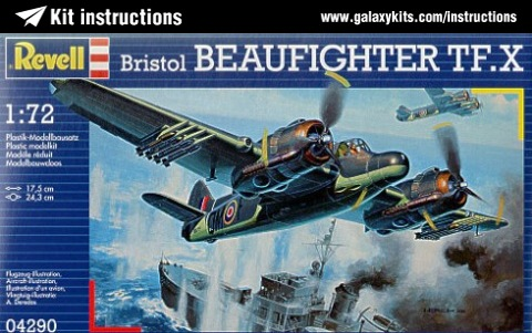 Box cover for Revell BRISTOL BEAUFIGHTER MK 1F in 1:32 scale