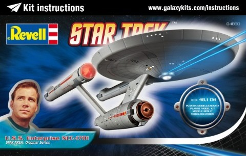 Box cover for Revell U.S.S. Enterprise NCC - 1701 in 1:600 scale