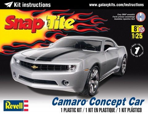 Box cover for REVELL Camaro Concept Car in 1:25 scale