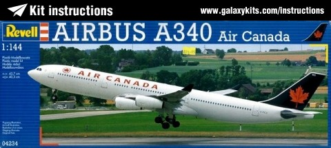 Box cover for Revell Airbus A340 - Air Canad in 1:144 scale