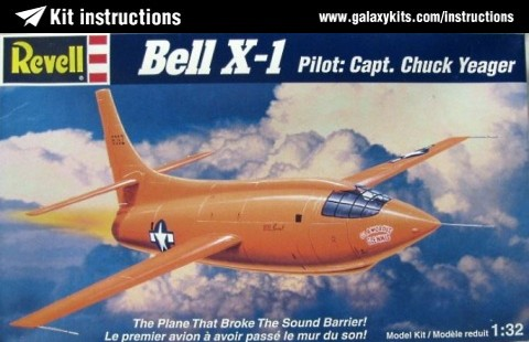 Box cover for REVELL Bell X-1 in 1:32 scale
