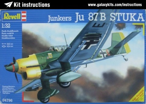Box cover for REVELL Ju 87B-2 Stuka in 1:32 scale