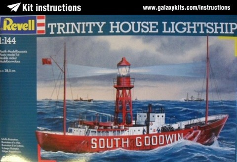 Box cover for REVELL Trinity House Lightship in 1:144 scale