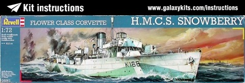 Box cover for Revell FLOWER CLASS CORVETTE H.M.C.S. SNOWBERRY in 1:72 scale