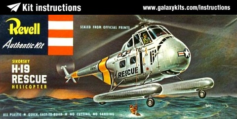 Box cover for Revell Sikorski H-19 Rescue Helicopter in 1:48 scale