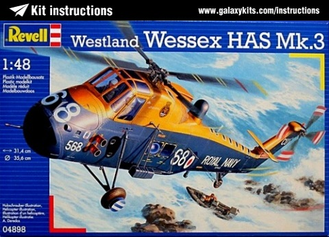 Box cover for Revell Westland Wessex HAS Mk.3 in 1:48 scale