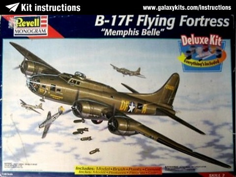 Box cover for Revell B-17 Flying Fortress in 1:48 scale