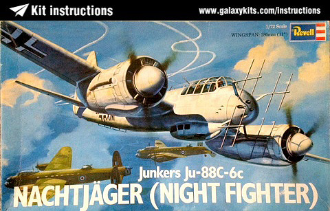 Box cover for REVELL Ju-88C-6C Night Fighter in 1:72 scale
