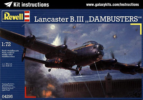 Box cover for REVELL Lancaster B.III Dambusters in 1:72 scale