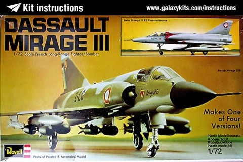 Box cover for REVELL Dassault Mirage IIIE/S/R/RS in 1:72 scale