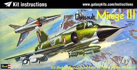 Box cover for REVELL Dassault Mirage IIIE/S/R/RS in 1:32 scale