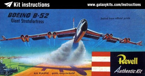 Box cover for Revell boeing b 52 stratofortress in 1:144 scale