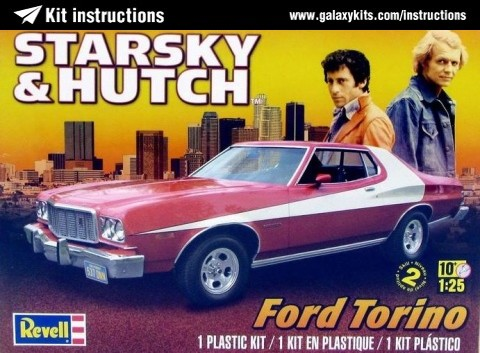 Box cover for Revell Starsky & Hutch Ford Torino in 1:25 scale