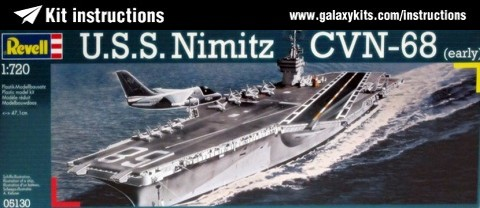 Box cover for Revell USS Nimitz CVN 68 in 1:720 scale