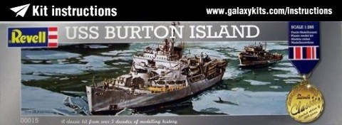 Box cover for REVELL USS BURTON SLAND in 1:283 scale