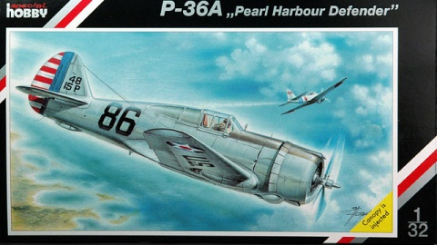 "Box cover for Special Hobby P-36A ""Pearl Harbour Defender"" in 1:32 scale"
