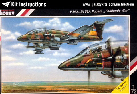 Box cover for Special Hobby FMA IA 58A Pucara in 1:72 scale
