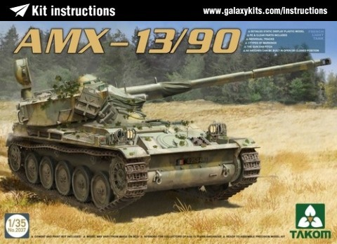 Box cover for Takom AMX 13/90 in 1:35 scale