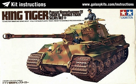 Box cover for Tamiya King Tiger Tank S.dKfz182 in 1:35 scale