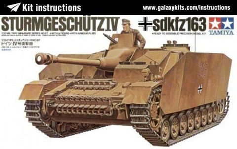 Box cover for Tamiya Sturmgeschutz IV sdkfz163 in 1:35 scale