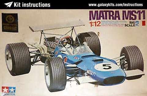 Box cover for Tamiya Matra MS 11 in 1:12 scale