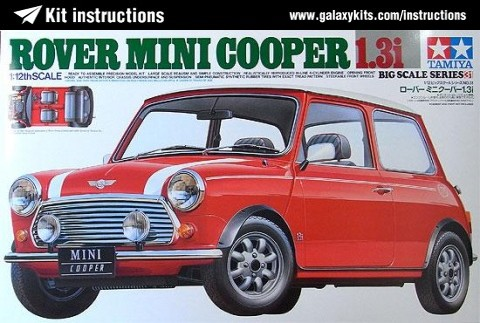 Box cover for Tamiya Rover Mini Cooper 1.3i in 1:12 scale