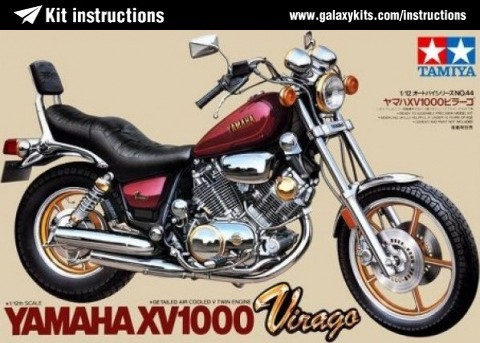 Box cover for Tamiya Yamaha Virago XV1000 in 1:12 scale
